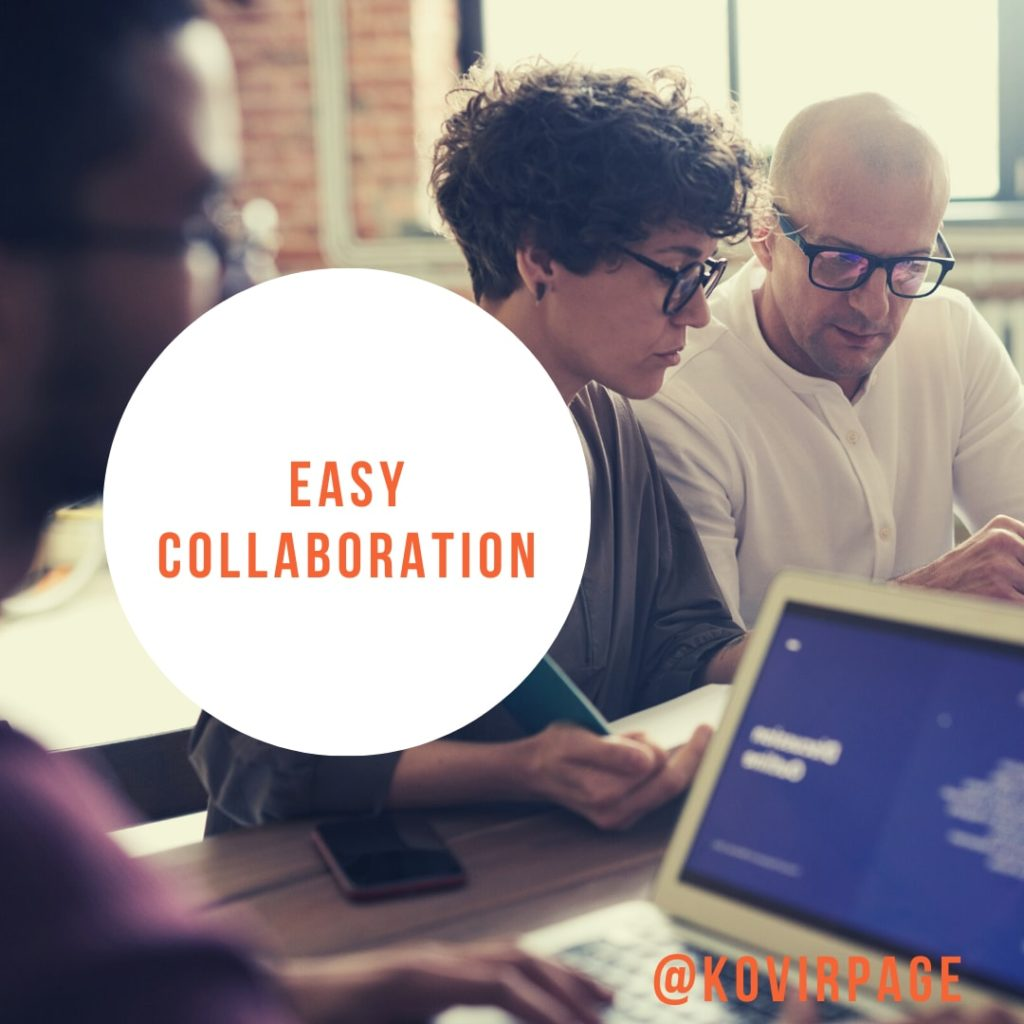 easy collaboration by cover page