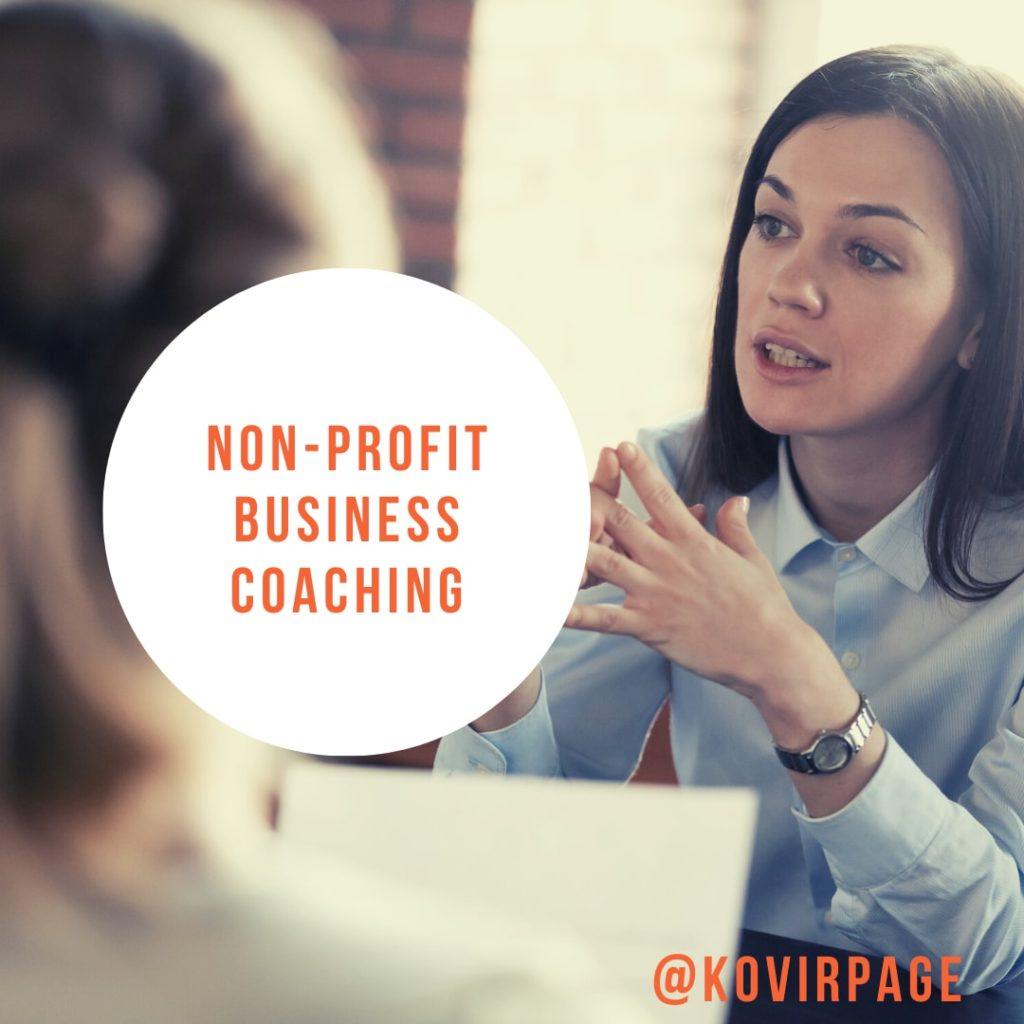 non profit business coaching by cover page