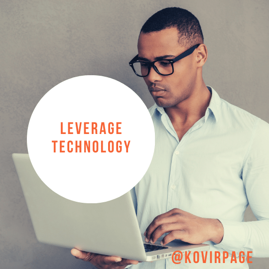 leverage technology by cover page