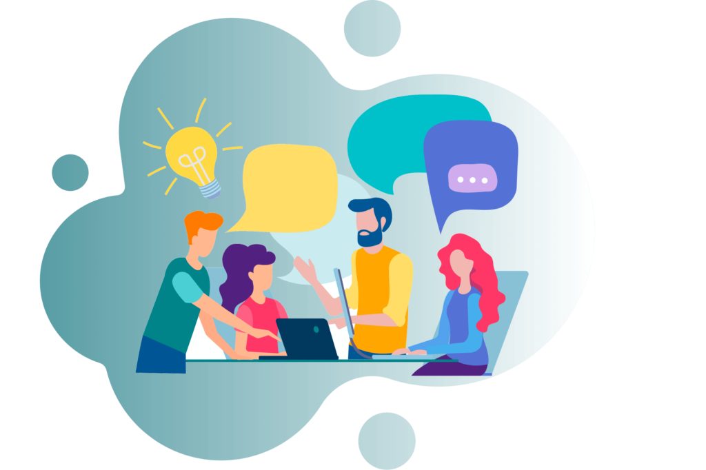 vector image group of people talking